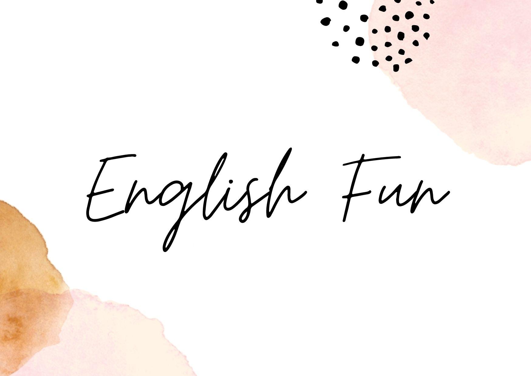 ENGLISH FUN 1